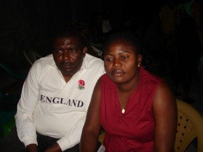 Médico coordenador do projeto Claude e sua esposa Liliane