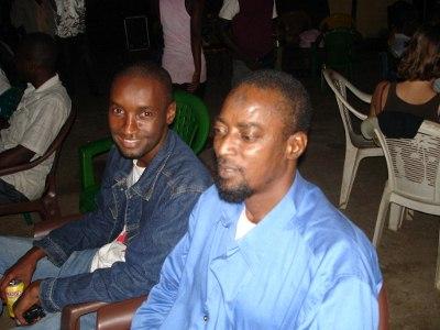 O responsável pela farmácia Ibrahima e o zelador Ihassim